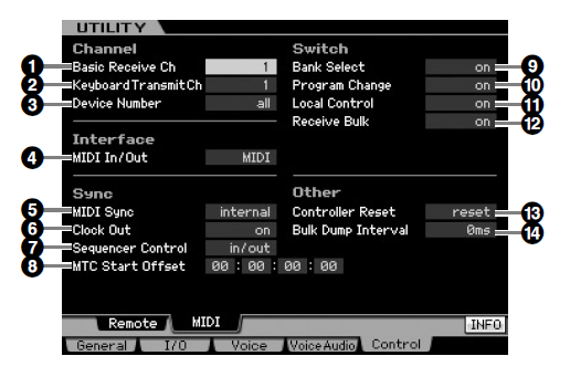 Motif XS sync menu